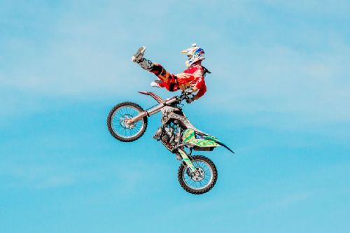 Motocross Extreme Sports  Canvas Framed Wall Art -17